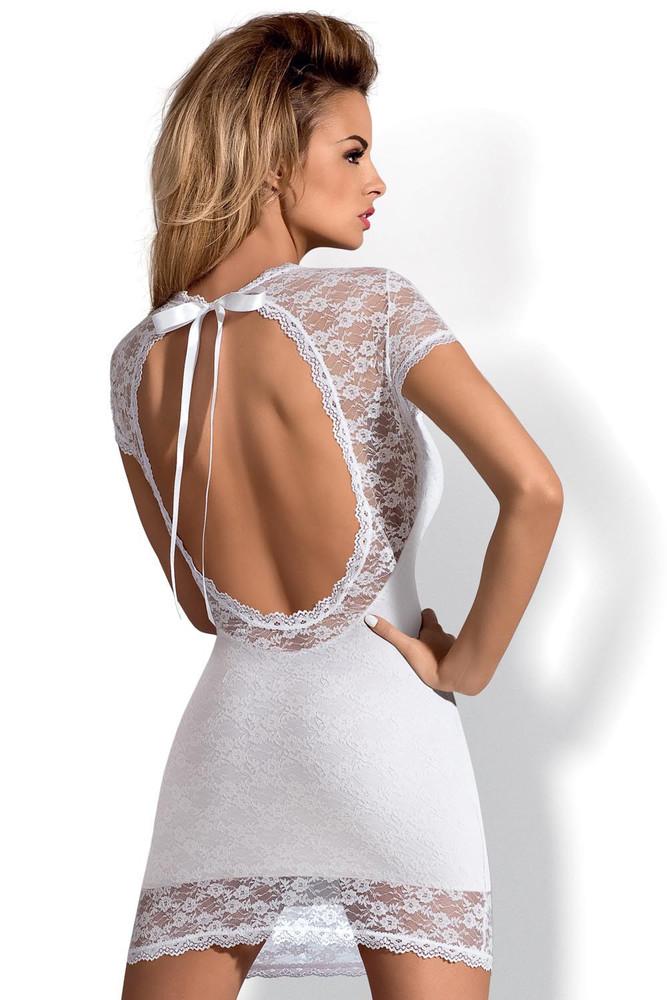 Dámské šaty OBSESSIVE Dressita XXL bílé  0f96d45a3b
