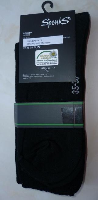 Pánské ponožky Sponks - černá  b3fd898c90