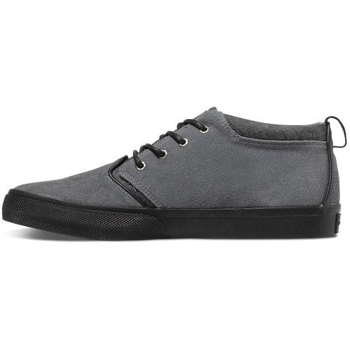 Kožené boty Quiksilver Griffin Suede Shoe Grey Grey Grey AQYS300005-XSSS 27f4422468