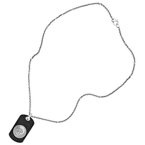 Pánský náhrdelník z kůže a oceli Diesel DX0688040  7f94b31000f