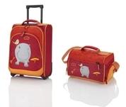 Travelite Youngster – dětská sada kufru a cestovní tašky Hippo