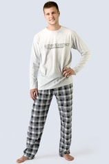 Pánské pyžamo GINA dlouhé šedé