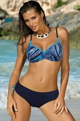Dvoudílné plavky MARKO 60409 tmavě modré