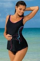 Jednodílné těhotenské plavky MARKO 60328 černé
