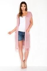 Dámský cardigan FOBYA 60027 růžový