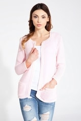 Dámský cardigan FOBYA 61001 růžový