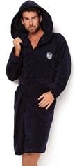 Pánský župan s kapucí L&L Max tmavě modrý