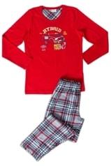 Vienetta Kids Dětské pyžamo dlouhé Hybrid - červená - 13 - 14