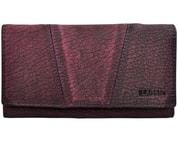 Dámská fialová kožená peněženka LAGEN Purple PWL-388/W-3
