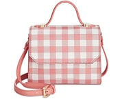 Elegantní kabelka Gingham Tommy Hilfiger Top Handle Crossbody