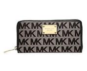Elegantní peněženka MK Logo Zip Around Continental Black