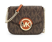Elegantní kabelka Michael Kors Fulton Small Crossbody Brown