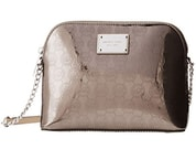 Elegantní kabelka Michael Kors Cindy Large Dome Crossbody MK Signature Nickel