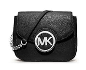 Elegantní kabelka Michael Kors Leather chain crossbody Black