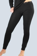 GINA GINA dámské legíny dámské, dlouhé, šité, klasické, jednobarevné Merino 86003P - černá šedá
