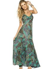 Dlouhé letní šaty PHAX Kinabalu Sunrise tyrkysové