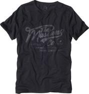 Luxusní pánské tričko MUSTANG krátký rukáv - černé
