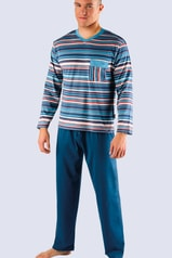 Pánské pyžamo GINA dlouhé modré