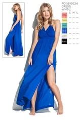Dámské dlouhé šaty PHAX Color Mix modré