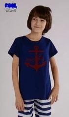 Dětské pyžamo kapri Vienetta Secret Kotva - tmavě modrá