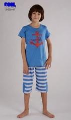 Dětské pyžamo kapri Vienetta Secret Kotva - světle modrá