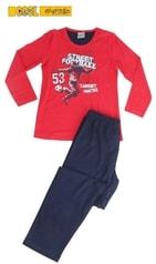 Dětské pyžamo dlouhé Vienetta Kids Fotbal - jahodová
