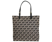 Elegantní business kabelka MICHAEL KORS Jet Set North South Tote Beige/Black/Black 38S1CTTT3J