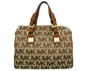 Elegantní kabelka Michael Kors Grayson Light Brown Monogram 38T5YGYS2J