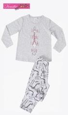 Dětské pyžamo dlouhé VIENETTA Žirafa Long - šedá