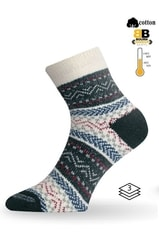 Teplé ponožky LASTING HMC modrá