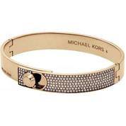 Zlatý pevný náramek s krystaly Michael Kors MKJ4902710