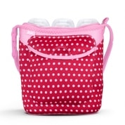 Taška na tři láhve Built Three Baby Bottle Tote Baby Pink Mini Dots