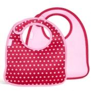 Sada 2 dětských barevných bryndáčků Built Infant Bib Baby Pink Mini Dots