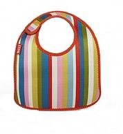 Sada 2 dětských barevných bryndáčků Built Infant Bib Baby Pink Stripe