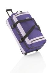Cestovní taška na kolečkách Travelite Basics Doubledecker on wheels Deep Purple/Light Purple